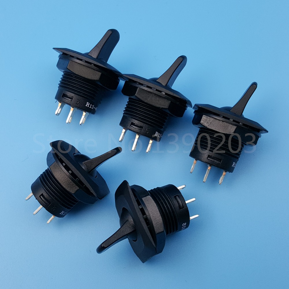 Black Toggle Switch 1 Pcs 12VDC 20A SPST ON//ON 12mm Mounting Thread Dia