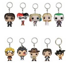 2017 NEW Suicide Squad Harley Quinn Game of thrones Walking Dead Rick Harry Potter Naruto Vegeta Goku Dragon Ball Keychain Toy