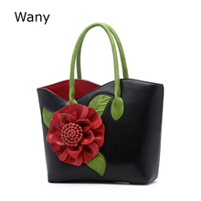 2017 vintage national trend three-dimensional flower bag women's handbag cross-body female bag big Chinese style bags(China)