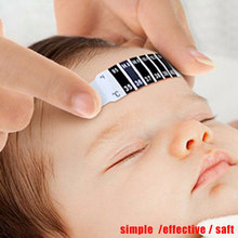 Baby Kid Thermometer Reusable Flexible Toddler Forehead Care Health Monitors Head Strip Thermometer Fever Test Temperature
