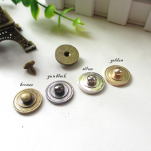round shape DIY leather craft wallet metal bronze silver golden color rivet spike and studs 20sets/lot(China)