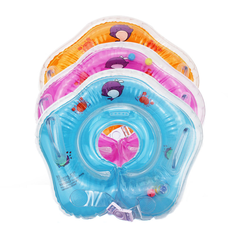 2017 swimming inflatable baby boat conformation baby neck float infant baby tube ring swimming pool neck circle float ring(China (Mainland))