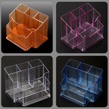Clear Nail Art Brush Holder Cosmetic Organizer Case Acrylic Display Stand Makeup Home Storage Box organizer