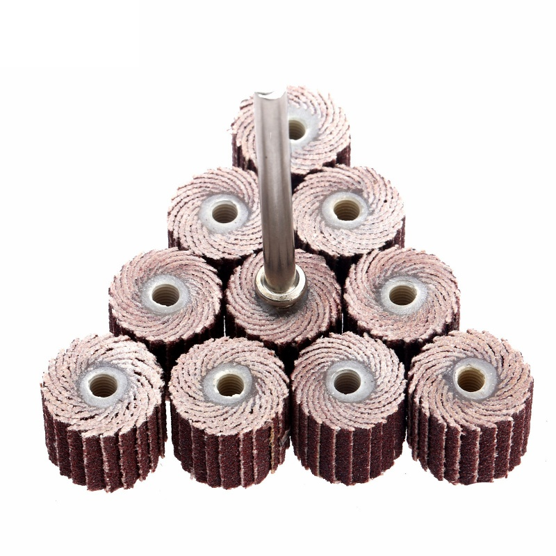 10Pcs/set 240 Grit Sanding Flap Disc Grinding Flap Wheels Brush Sand Rotary Tool Accessories Dremel Abrasives Tool 10 x 10x 3mm