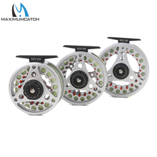 Maximumcatch 3/4/5/67/8WT Fly Reel Combo Silver ECO Large Arbor Aluminum Pre-Spooled Fly Fishing Reel & Fly Line
