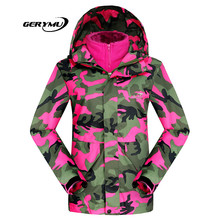 2016 Ski Suit Women Winter Soft Shell Camouflage Snowboard Sports Coat Waterproof Outdoor Skiing Female Jackets