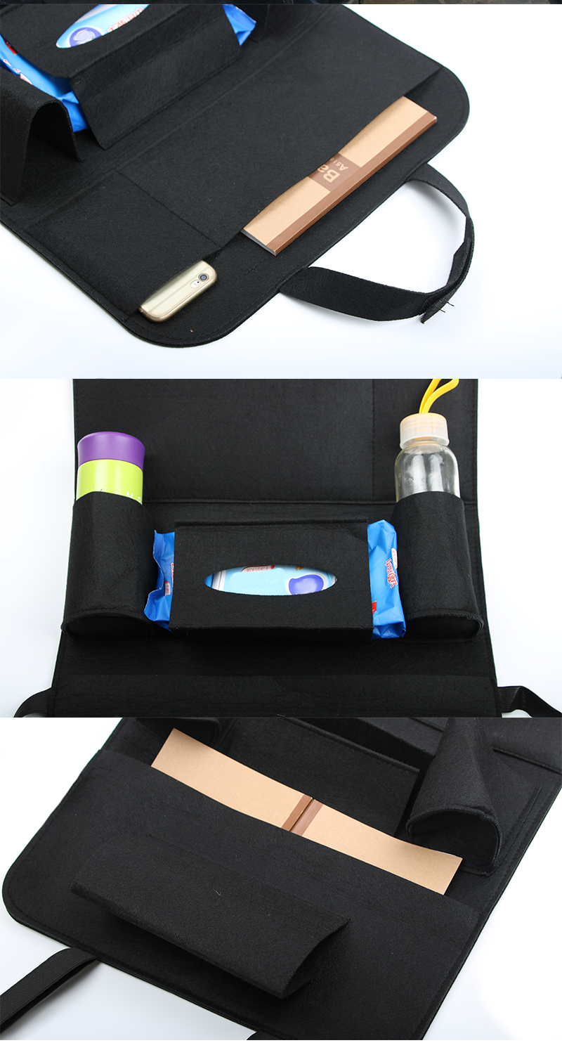 2Car Organizer Back Seat Bag Chair Automobile Pocket Storage Bags Cup Stowing Tidying For Cars Auto Trash In The Car Accessories