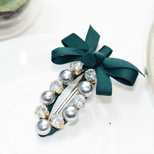 Fashion Women Girls Crystal Rhinestone Bow Hair Clip Beauty Hairpin Barrette Head Ornaments Hair Accessories