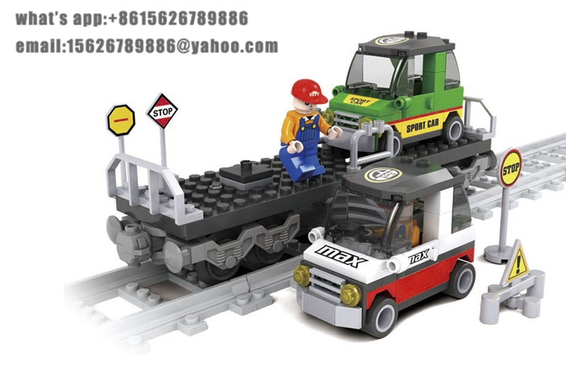 Model building kits compatible with lego city trains rails 022 3D blocks Educational model &amp; building toys hobbies for children<br><br>Aliexpress