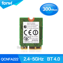 New Atheros QCNFA222 AR5BWB222 Dual band NGFF 300Mbps Wlan 802.11a/b/g/n 2.4GHz/5GHz Wireless Wifi + Bluetooth BT 4.0 Mini Card