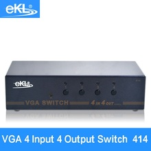 EKL 4x Input 4x Output VGA Splitter Switch 4 Way Switcher Computer video display sharing device(China)