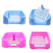 Indoor Pet Dog Toilet Training Pad Plastic Tray Mat Pet Supplies Accessories Small Dog Toilet Potty Pad Urine Splashes New WW886(China)