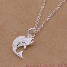 XL-AN432 Hot sale free shipping silver fine jewelry,Wholesale 925-Sterling-Silver charms fashion pendant marine fish /awqajnxa