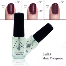 LULAA 1Pcs Matte Nail Polish OilMagic Super Transparent Nails Art Gel Frosted Surface Nail Polish 6ML For Women Nail Makeup(China)