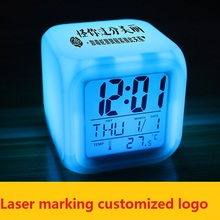 Alarm Clock Despertador Clock Digital-Watch Watch Reloj Saat LED Clocks Projection Alarm Clocks Colorful Quartet  Masa Saati