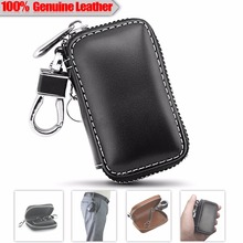 100% Genunie Leather Car Key Case For BMW E46 Land Rover Defender Mercedes Benz W211 Audi A3 Porsche 911 Jaguar XF Key Wallet
