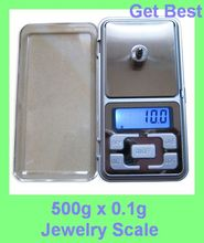 WEI HENG 500g x 0.1g Mini Electronic Digital Scales Jewelry weigh Scale Balance Pocket Gram LCD Display With Retail Box