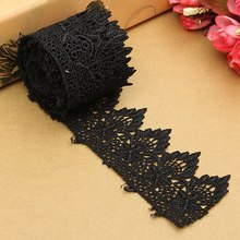 2 Meters Black Venise Guipure Lace Trim for Costume Dress Clothes Sewing DIY Craft Handmade Materials Accessories 5cm