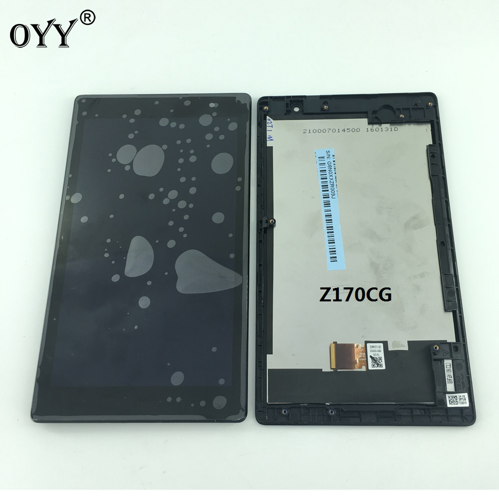 LCD Display Panel Screen Monitor Touch Screen Digitizer Glass Assembly with frame For ASUS ZenPad C Z170 Z170CG Z170C<br>
