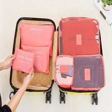 High Quality 6Pcs/Set Clothes Storage Bags Set Packing Cube Travel Home Organizer Cabide Caixa Organizadora Maleta De Maquiagem