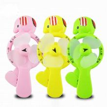 Mini Fan Portable Cartoon Cute Lovely Animals Mist Spray Mini Hand Pressure Fans Baby Children Kids Great Gift Present Toy(China)