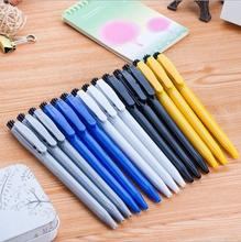 [4Y4A] 48pcs/box Press the ballpoint pen wholesale cheap high quality simple student ball pen Price discount free shipping(China)