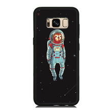 Spaceman Squirrel Painting Soft Rubber Phone Case OEM For Samsung Galaxy S8 S8 Plus S7 S6 Edge S5 Hard PC Shockproof Cover Skin