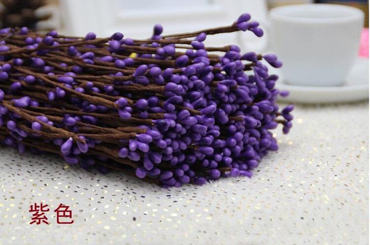 100pcslot 40cm Artificial Wreath Flower Small Berry Rattan Pip