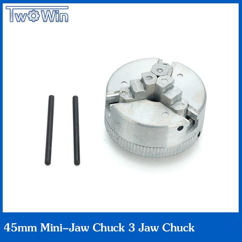 3 jaw chuck mini lathe chuck 45mm for Mini 6 in 1 Lathe Two Lock Rods chuck jaw<br><br>Aliexpress