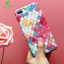 FLOVEME Phone Case For iPhone 7 6 6S X 8 Plus Case Protective Colorful Fashion Phone Cover for iPhone 8 Plus X 5S 5 Accessories