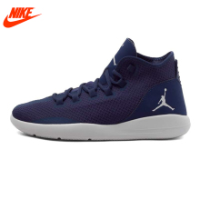 Authentic New Arrival NIKE Men's Breathable Basketball Shoes Sneakers Dark Blue(China)