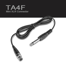 TA4F 4PIN 4 Pin!!! Mini XLR  Connector to Jack  Guitar Bass Instrument Cable For SHURE SLX1 PGX1  Wireless BodyPack Transmitter