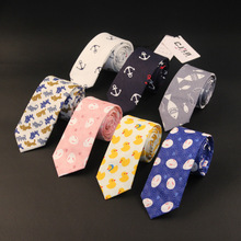 New Fashion Brand Necktie Groom Gentleman Ties Wedding Birthday Party Gifts For Men Gorgeous Cartoon Silk Gravata Slim Arrow Tie(China)