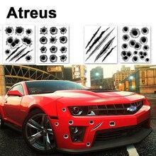 Atreus 3D Cool Bullet Hole Car Stickers Covers Styling BMW e46 e39 e36 x5 x6 Audi a4 b6 a3 a6 c5 Renault duster Lada granta