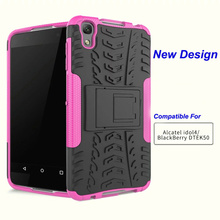 BrankBass Mobile Phone Back Case TPU + PC Covers For Alcatel One Touch Idol 4 Case 6055K/Blackberry DTEK50