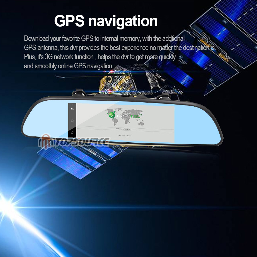 """TOPSOURCE Auto GPS ANDROID 5.0 1G/16G 3G 7"""" IPS Car DVR Mirror Camera Dual Lens 1080P Video Recorder Dash Cam Parking Monitor 17"""