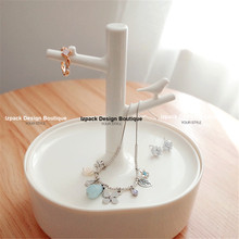 Designer Cute Bird Tree Jewelry Organizer Stand with Tray Case