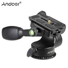 Andoer Q08 Video Tripod Ball Head 3-way Fluid Head Rocker Arm with Quick Release Plate for DSLR Camera Tripod Monopod
