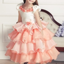 Flower Girls Tutu Dress Kids Party Pageant Wedding Bridesmaid Princess Dress