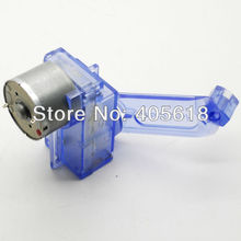 BLUE DC Hand Crank power generator motor  Dynamo Green energy Assembled for fun free shipping