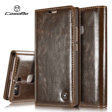 For Huawei P9 Lite Case Flip Wallet Leather Cover Luxury Full Phone Protective Black Brown Cases for Huawei P9 Lite Coque