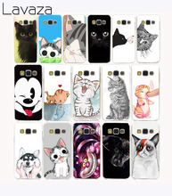 Lavaza 2900G Lovely Cute black Cat & dog Hard Case for Samsung Galaxy A3 A5 A7 J3 J5 J7 Grand 2 J5 Prime 2015 2016 2017(China)