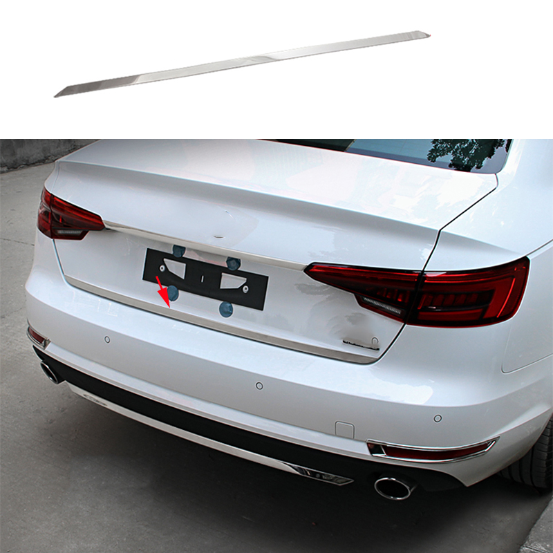 Interior Rear Tail Bumper Sill Protector Cover Trim Steel For Audi A4 B9 8W 2017