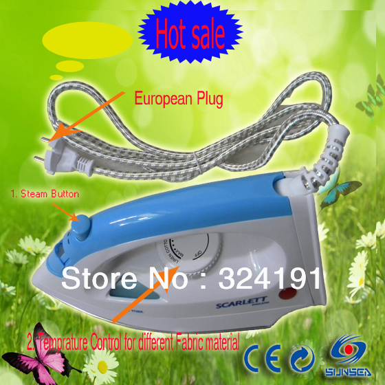 220v AC EU plug Stainless steel electric steam iron  irons wet and dry household Cord clothes Laundary iron <br><br>Aliexpress