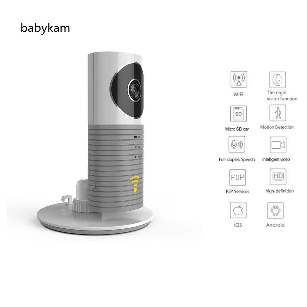 Babykam ip camera monitor IR Night vision 2 way talk  PIR Motion Detection Alarm wifi camera monitors For iOS Android Max 32G<br>
