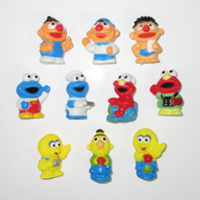 (10 pcs/set) Sesame Street Characters Mini Toy Figures ELMO BIG BIRD BERT Plastic ERNIE COOKIE MONSTER Figurine Children Gifts