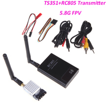 5.8G FPV 200mW AV Wireless Transmitter TX 5.8GHz Rx RC Receiver TS351+RC805 Kit 2KM 2000M