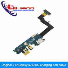 New REV 2.3 I9100 Charger Port USB Flex with Mic for Samsung Galaxy S2 SII I9100 Charging Dock Connector Cable Ribbon