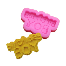 Happy New Birthday Cake Dessert Decoration Silicone Mold Fondant Chocolate Baking Products Kitchen Bakeware Cookie Cutter