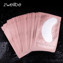 50 Pairs/Pack Pink Women Under Eye Pads Patches Eyelash Extension Eye Lash Paper Stickers Patches Application Make Up Tools